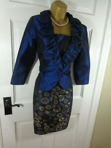 Cabotine-by-Gema-Nicolas-Blue-MOB-Outfit-UK-10-New-With-Tags-RRP-650