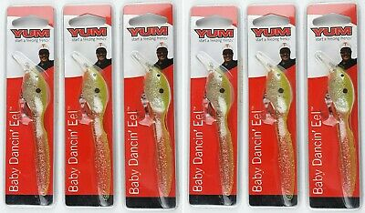 Details about  /3 Yum Baby Dancin/' Eel Soft Body Diving Crankbait Fishing Lures YDBE Dancing LOT