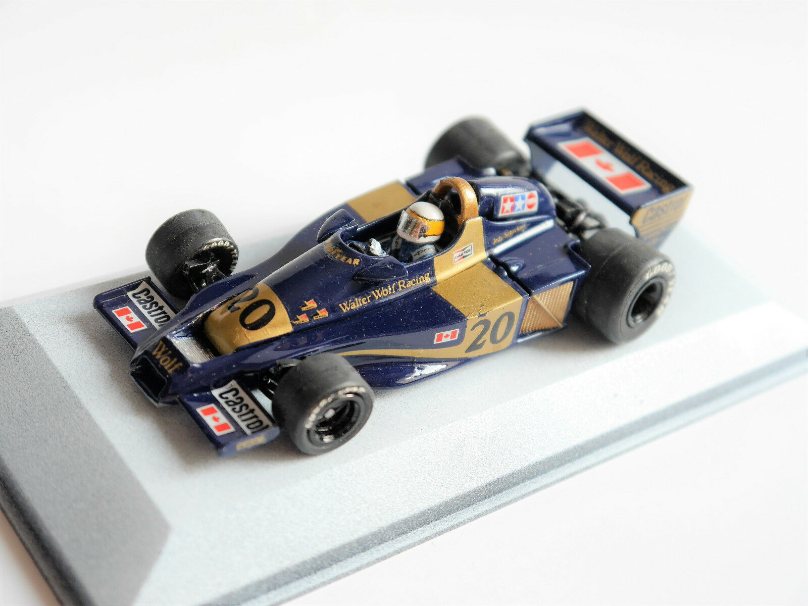 Formula 1 Walter Wolf wr1 1977, fatto a mano handmade/Scale Racing Cars in 1:43
