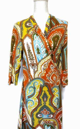 J. Mclaughlin Catalina Cloth Orange Paisley Wrap D