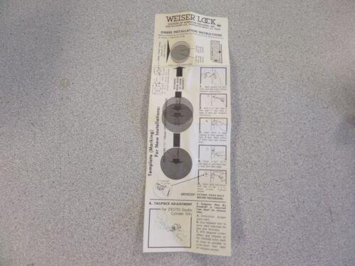 WEISER D9370SUS10 HEAVY DUTY DOUBLE CYLINDER DEADBOLT SATIN BRONZE