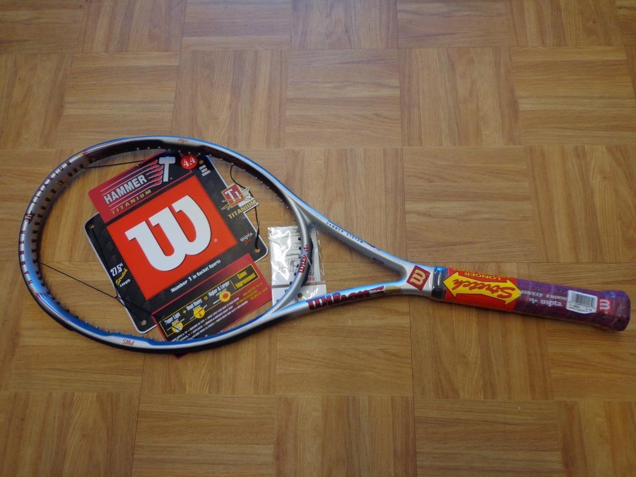 RARE NEW Wilson Hammer Titanium 4.4 Stretch Stretch Stretch 95 4 1/2 grip Tennis Racquet ab15b5