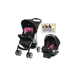 graco baby stroller car seat travel system infant toddler carriage pink 9854552154541 ebay. Black Bedroom Furniture Sets. Home Design Ideas