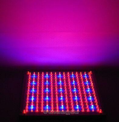 Red Blue Orange 229 LED Grow Light Panel Hydroponic Plant Lamp 225/110V Tri-Band