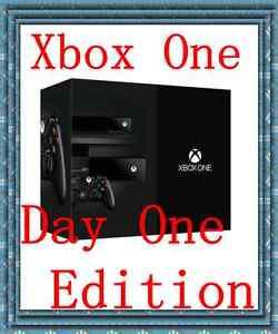 Brand new microsoft xbox one 500 gb black console day one edition 885370621587 ebay - Xbox one console day one edition ...