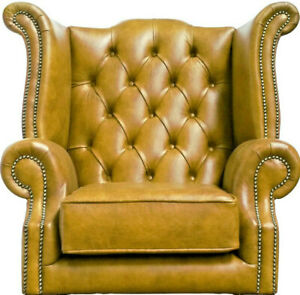 Nice Museum Quality Antique Chesterfield Style Leather Handmade Wingback Armchair Special Buy Antique Furniture Furniture