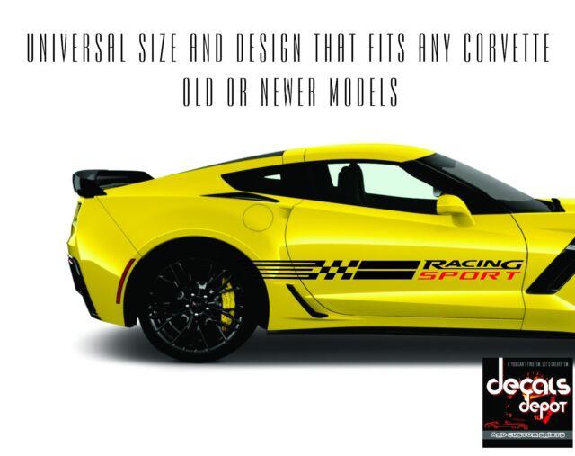 Corvette RACING SPORT STRIPES Vinyl Decals C3 C4 C5 C6 C7 ZO6 ZR1 Stingray More