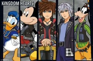 Details about KINGDOM HEARTS 3 - CHARACTER PANELS POSTER - 22x34 - DISNEY  17722