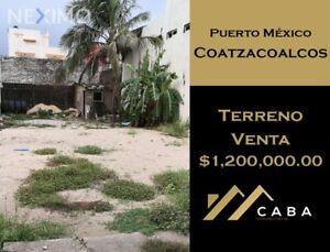 Terreno en Venta en Col. Puerto México, Coatzacoalcos, Ver.