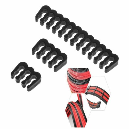 1//5PC PP Cable Comb //Clamp //Clip //Dresser For 3.0-3.2 mm Cables Black 6//8//24 Pin