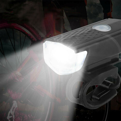 300LM MTB Bike Bicycle Cycling USB Rechargeable LED Head Light Front Lamp Black