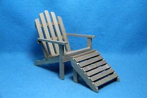 Dollhouse Miniature Garden Adirondack Chair With Detached