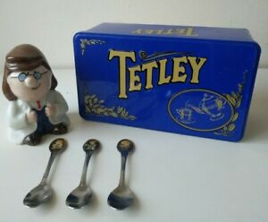 Vintage-Collectables-Tetley-Tea-Merchandise-Wade-Gaffer-Old-Tin-amp-Spoons