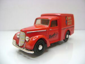 Diecast-Dinky-Toys-DY-8-Commer-8CWT-Van-in-Red-Very-Good-Condition