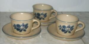 3-sets-Pfaltzgraff-USA-Folk-Art-Coffee-Cups-With-Saucers-001