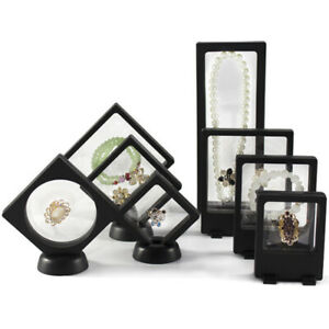 Clear-Jewelry-Suspended-Coins-Floating-Display-Case-Stand-Holder-Box-Display