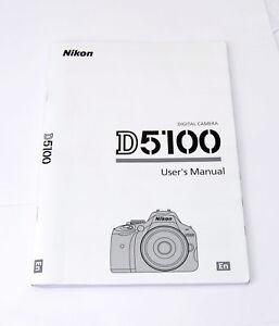 nikon d5100 digital camera english user s instruction manual booklet rh ebay com Operators Manual User Manual PDF