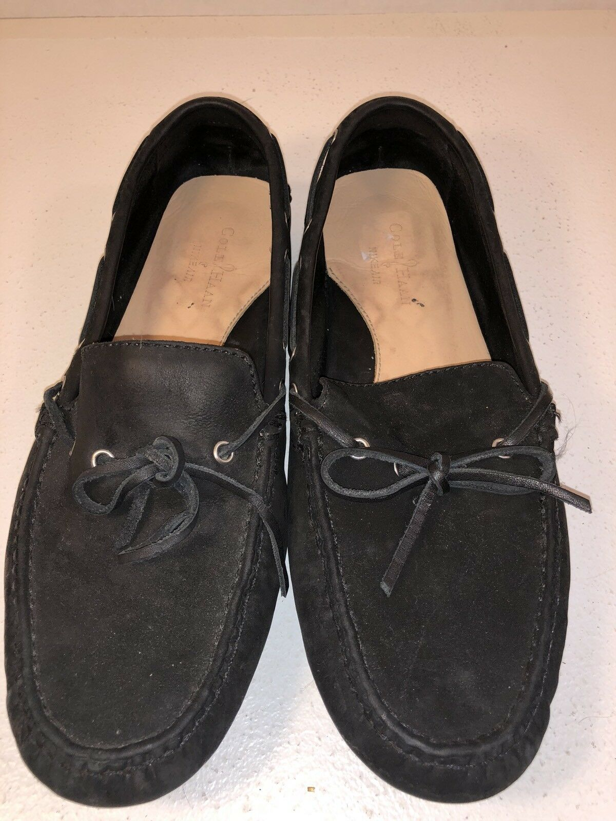 Cole Haan Women's shoes Size 9 1 2M Black Leather Driving Moccasin Boat shoes