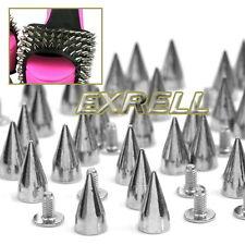 100 Borchie Sfuse Cono Tono Argento in Lega 14x7mm per Borse Scarpe Cintura