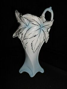 Jugenstil-Vase-bemalt-034-Scheibe-Alsbach-034-Thueringen-ca-17-cm