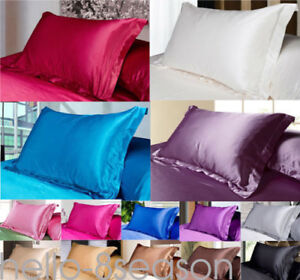 Xmas-Silk-Satin-Duvet-Cover-Silky-Bedding-Set-Fitted-Sheet-Pillow-Cases-Cushion