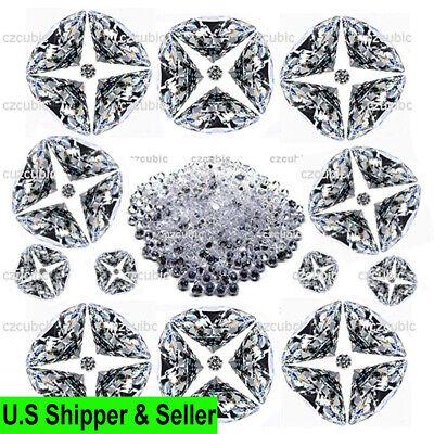 1000 PCS ROUND CUBIC ZIRCONIA//CZ STONES 5A QUALITY  0.80-1.75 MM SHIP IN U.S.A