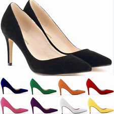 Women's High Heels Sexy Girls Ladies Office Work Pumps Shoes Plus Size Wedding