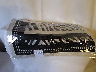 Amichevole Grande Scialle Stola Sciarpa Sinonimo Georges Rech Simil Zebra 176cmx105cm Seta