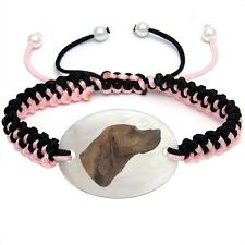Redbone Coonhound Mother Of Pearl Natural Shell Adjustable Knot Bracelet Bs129