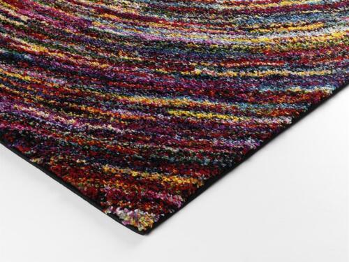 Teppich Multicolor Designer SIX05 Round Modern 65x130cm bunt