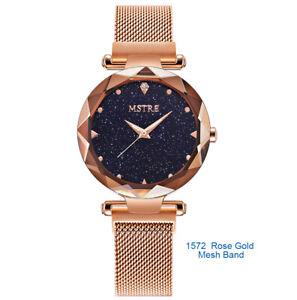 Women-039-s-Mesh-Loop-Magnetic-Band-Quartz-Dress-Ultrathin-Watch-M1570