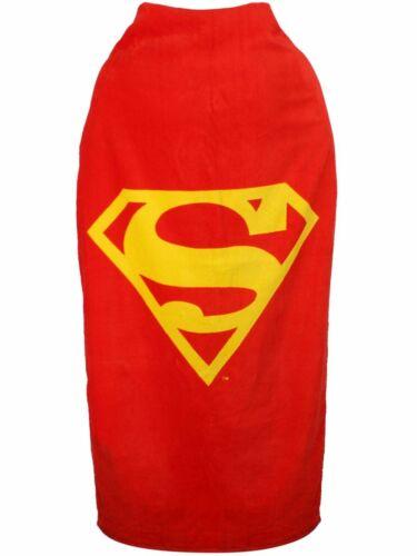 OFFICIAL DC COMICS SUPERMAN LOGO CAPE BATH BEACH TOWEL NEW WITH TAGS