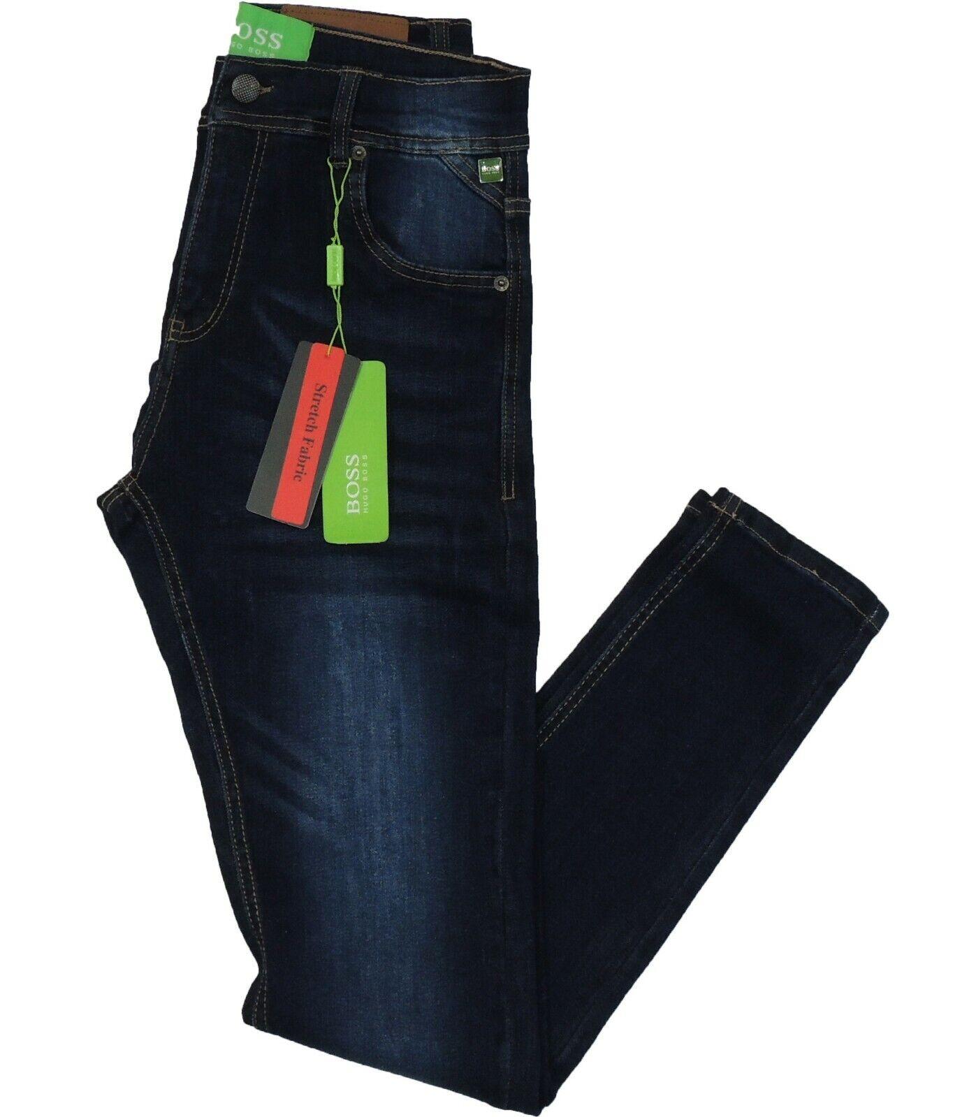Hugo Boss Green Label Montana Jeans Super Slim Fit Stretch Dark bluee RRP