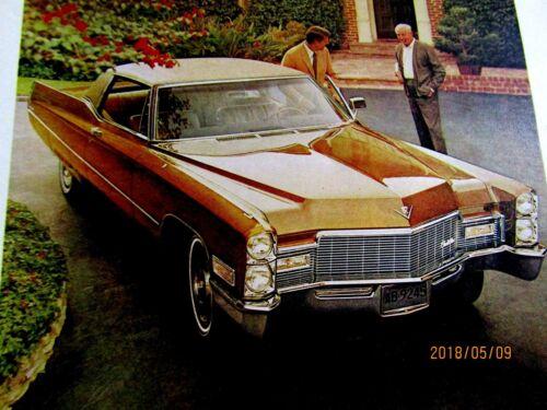 "1968 Cadillac Coupe Deville Original Print Ad 8.5 x 11 /"""
