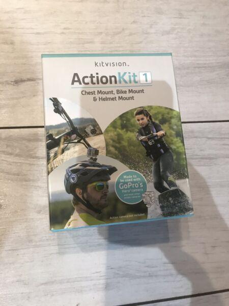 Action Kit Kit Vision Caméra Mount Brand New In Box Convient Aux Hommes Et Aux Femmes De Tous âGes En Toutes Saisons