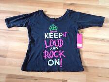 Abbey Dawn Keep It Loud T shirt NUOVA con etichetta