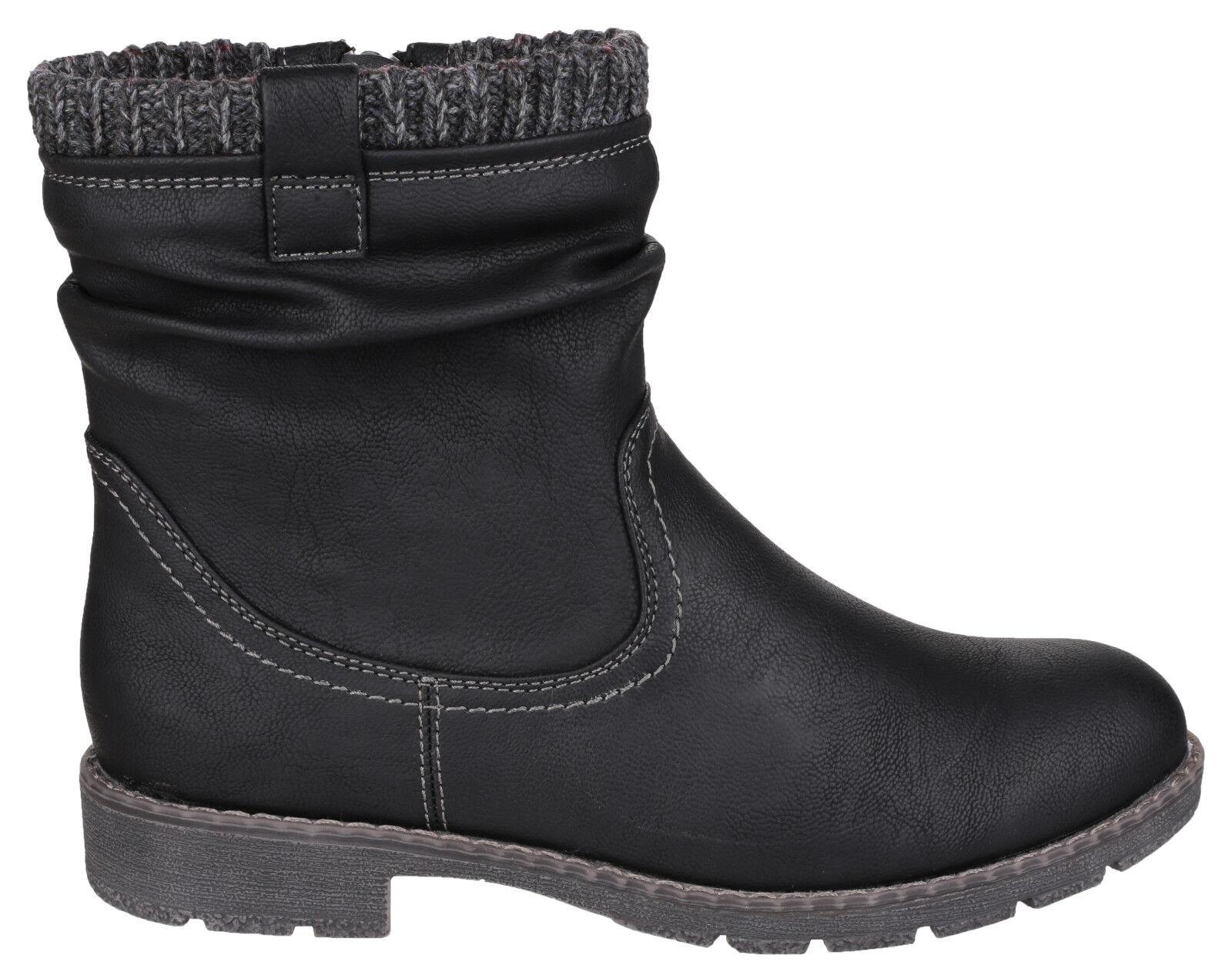 Divaz Lucca Mid Calf Zip Up Damenschuhe Schuhes Smart Casual Fashion Stiefel Schuhes Damenschuhe UK3-8 60e499