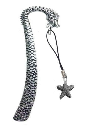 Starfish 1.8x1.8cm gt273 English Pewter On A DRAGON Bookmark