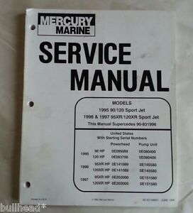 mercury marine 20 jet 20 25 25 marathon 25 seapro service rh ebay com 25 HP Mercury 4 Stroke 1993 Mercury 25Hp Decal