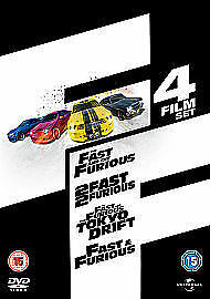 The Fast And The Furious Quadrilogy (DVD, 2011, 8-Disc Set, Box-set)