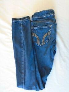 Hollister-Size-00R-Women-039-s-Low-Rise-Skinny-Leg-Denim-Blue-Jeans