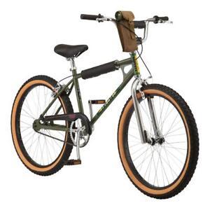 Boys 24 Inch BMX Bike 24-inch Wheels Stranger Things Single Speed, Green