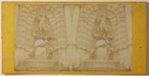 Fontana-Saint-Michel-Parigi-Foto-Stereo-PL46L3n-Vintage-Albumina-c1870