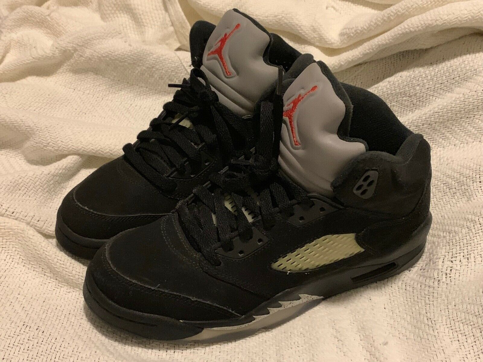 Nike Air Jordan Retro 5 Men's shoes, Size 6.5 US, Black   Metallic Silver