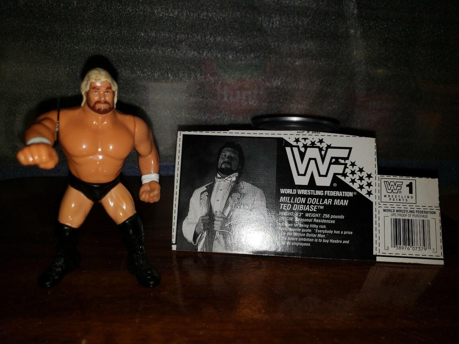 Vintage WWF Wrestling Hasbro Million Dollar Man Series 9 With bio card