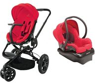 Quinny Moodd Travel System In Red Envy With Stroller & Mico Nxt Car Seat