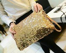 Women classy gold retro glisten clutch sling bag