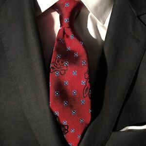 238a9bc4990a Crimson Red PSYCHO BUNNY Slim Silk Tie Bunny Neat Traditional, Made ...