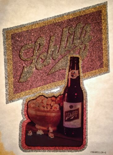 VTG 70s 80s SCHLITZ Beer Popcorn Milwaukee Famous