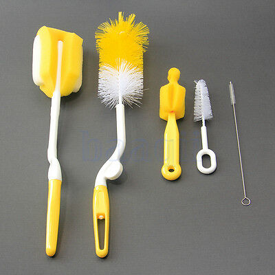 5 Straw Cleaner cleaning Brush kid Drinking pipe Feeding Bottle Cleaner Brush DA